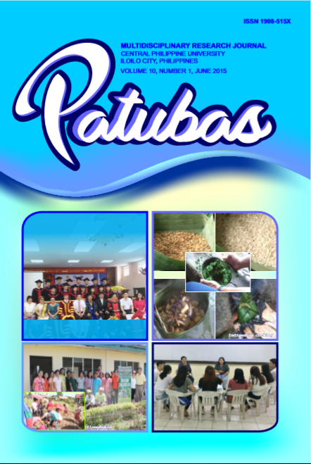 Patubas Volume 10 No.1 2015
