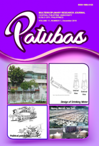 Patubas Volume 11 No.1 2016