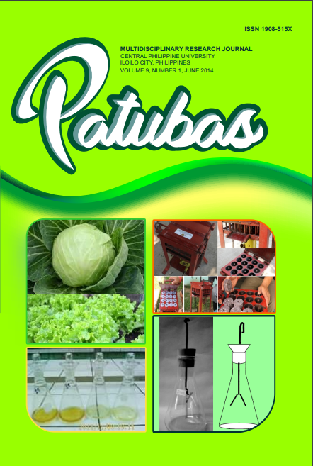 Patubas Volume 9 No.1 2014