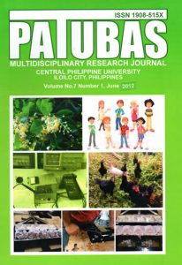 Patubas Volume 7 No. 1 2012
