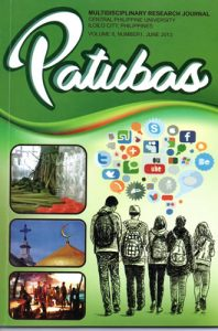Patubas Volume 8 No.1 2013
