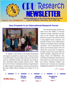 Newsletter Sept 2017