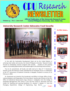 Newsletter Vol. 14 June 2018