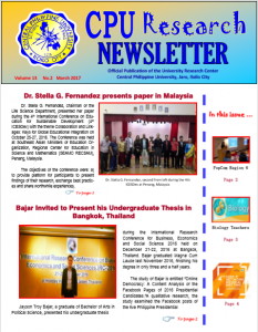 Newsletter Vol 13 March 2017