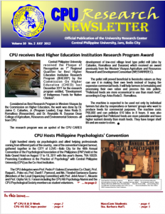 Newsletter Vol. 10 July 2012