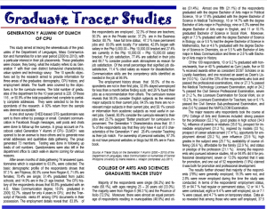 Vol. 11.1 Graduate Tracer Studies
