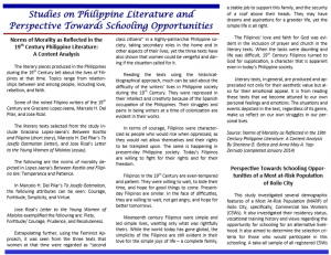 Vol 12.3 Studies on Philippine Literature and Perspective Towards Schooling Opportunities