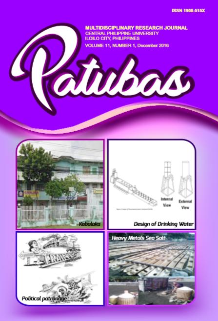 Patubas Volume 11 No.1 2016
