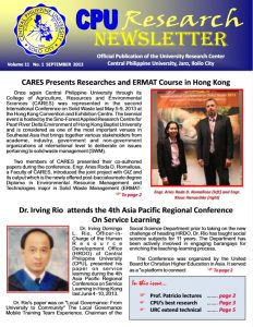 Newsletter Vol. 11 September 2013