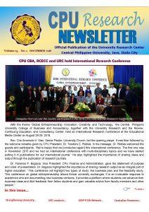 Newsletter Vol. 15 December 2018