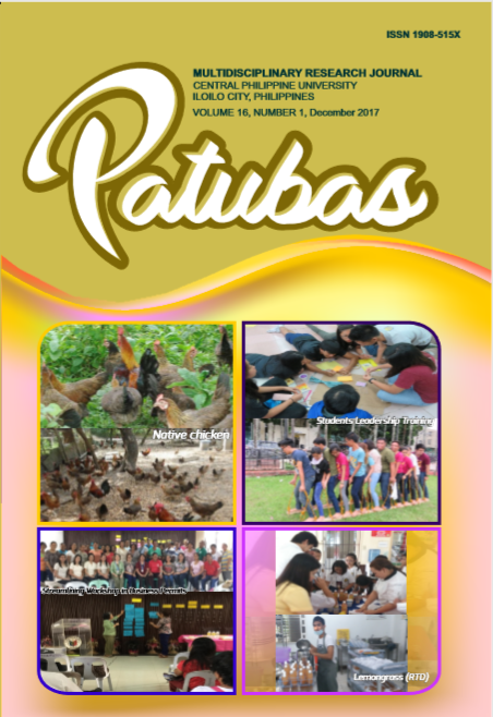 Patubas Volume 16 No. 1 2017