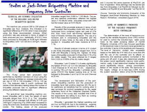 Vol 12.4 Studies on Jack-Driven Briquetting Machine and  Frequency Drive Controller
