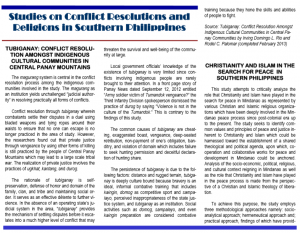 Vol. 11.4 Studies on Conflict...
